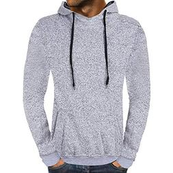 POHOK Clearance Deals ! Men's Casual Autumn Solid Hooded Swe