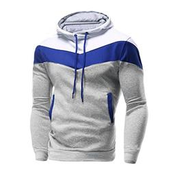 Clearance Sale!Fashion Men's Long Sleeve Patchwork Hoodie Ho