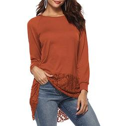 SMALLE ◕‿◕ Clearance, Women Casual Long Sleeve Lace Tr