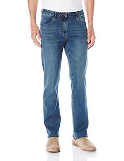 Izod Mens Comfort Stretch Relaxed Fit Jean, Indigo Blast, 36