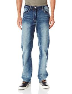 IZOD Men's Comfort Stretch Relaxed Fit Jean,38x30,Artic