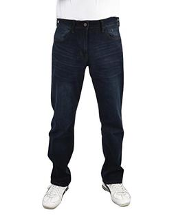 IZOD Men's Comfort Stretch Straight Fit Jeans, Fossil Wash,