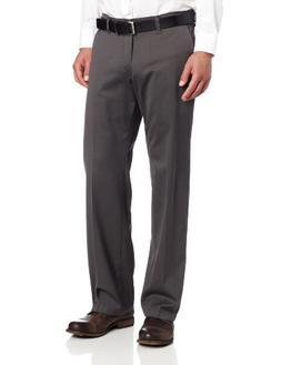 Lee Men's Comfort Waist Custom Straight Fit Flat Front Pant,