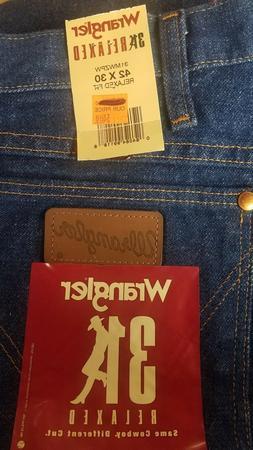 Wrangler Men's Cowboy Cut Relaxed Fit Jean, Prewashed Indigo