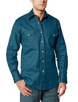 Wrangler Men's Cowboy Cut Work Western  Long Sleeve Shirt, I