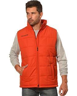 Ariat Men's Orange Crius Insulated Tiger Paw Full Zip Vest O