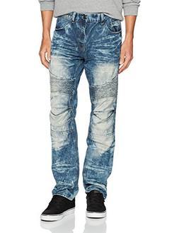 Akademiks Men's Fashion Denim Jean, Medium indigo, 34/34