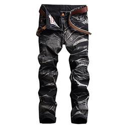 PrettyChic Men's Denim Jeans Premium Straight Fit Tapered Le