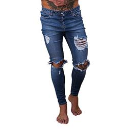 Emerayo Denim Jeans for Men's Distressed,Mens Ripped Slim Fi