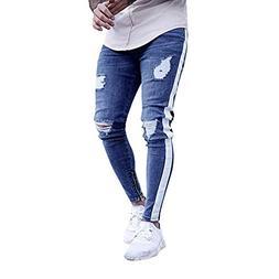 Emerayo Denim Pants for Men Skinny Fit,Mens Stretch Denim Pa
