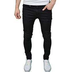 Enzo Mens Designer Branded Super Stretch Skinny Fit Jeans,Bl