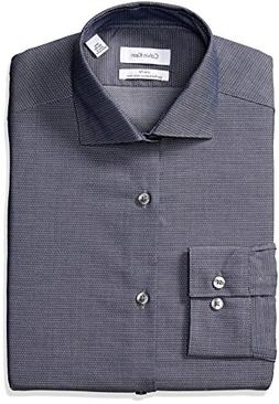Calvin Klein Men's Dress Shirt Non Iron Stretch Slim Fit Uns