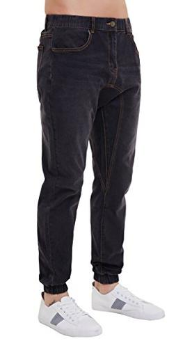PAUL JONES Men's Durable Denim Pants Vintage Jogger Style Je