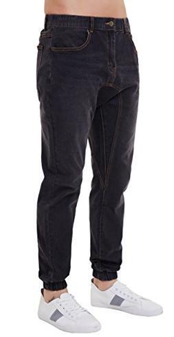 PAUL JONES Men's Durable Denim Pants Vintage Jogger Style Je