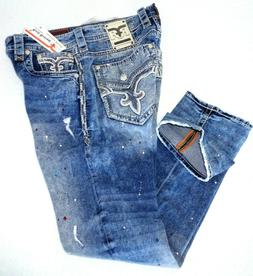 Rock Revival Edan men's Jeans Alternative Straight  34, 36,