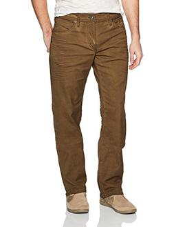 Eddie Relaxed Fit Tapered Leg Colored Jeans, Dark Khaki, 34x