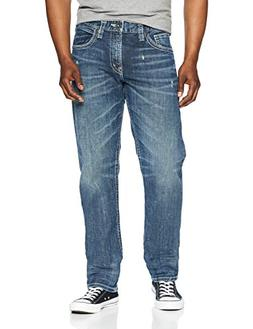 Silver Jeans Co.. Men's Eddie Relaxed Fit Tapered Leg, Dark
