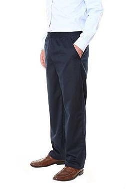 Pembrook Men's Elastic Waist Casual Pants Twill Pants with Z