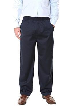 Pembrook Men's Full Elastic Waist Twill Casual Pant - XL - N