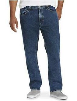 Essentials Men's Big & Tall Straight-Fit, Medium Wash, Size