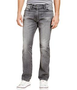Tommy Hilfiger Mens Faded Straight Leg Jeans Grey 40x30