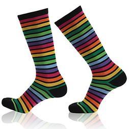 Fitness Novelty Socks, Gmark Women's Rainbow Colour Bright F