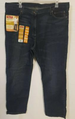 WRANGLER Five Star Men's Relaxed Fit Jeans 4-Way Flex - 42W