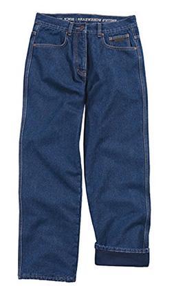 Smith's Workwear Men's Flannel Lined Carpenter Work Jean, Da