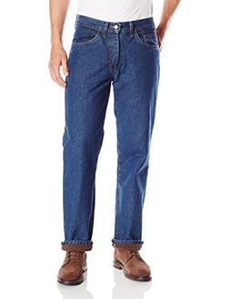 LEE Men's Fleece Flannel Lined Relaxed-Fit Straight-Leg Jean
