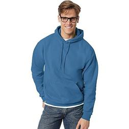 Hanes Men's Fleece Full Cut Athletic Hooded Pullover, Denim