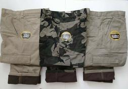 ~Wrangler Fleece Lined Cargo Pants Relaxed Fit Work,Fishing,
