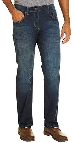Wrangler Mens 4-Way Flex Straight Fit Jeans 36W x 32L Deep s