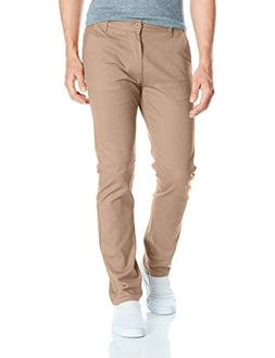 Southpole Men's Flex Stretch Basic Long Chino Pants, Deep Kh