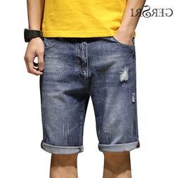 Gersri <font><b>Mens</b></font> Shorts <font><b>Jeans</b></f