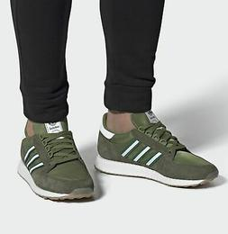 ADIDAS FOREST GROVE HAMBURG MENS SHOES SUEDE JEANS CAMO GREE