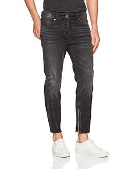 True Religion Men's Frayed Fin Skinny Jean, Dark Envy, 36