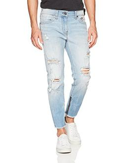 True Religion Men's Frayed Fin Skinny Jean3, Light Envy, 34