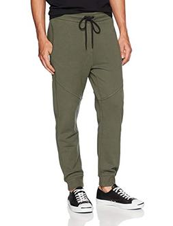 Hudson Jeans Men's French Terry Jogger Sweatpants, Fatigue/G