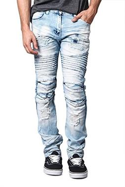 Victorious Men/'s Skinny Fit Stretch Raw Denim Jeans DL936 FREE SHIP