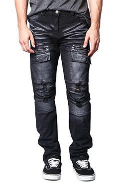 c277104cb497de Victorious G-Style USA Men's Faded Zipper Cut Cargo Pocket L