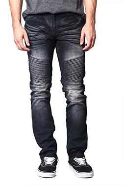 Victorious G-Style USA Men's Faded Denim with Inseam Ankle Z