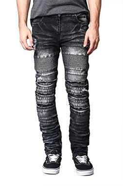 Victorious G-Style USA Men's Ripped Knee Inseam Ankle Zipper
