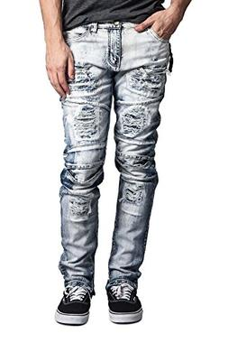 29a7ce792c4 Victorious G-Style USA Men's Layered Knee Inseam Ankle Zippe