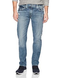 True Religion Men's Geno Slim Straight Jeans with Back Flap