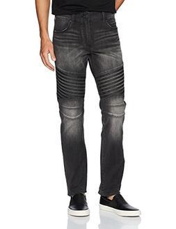 True Religion Men's Geno Slim Straight Race Biker Jean, Dark