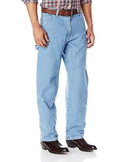 Genuine Wrangler Men's Carpenter Fit Jean,Stone Bleach,28X30
