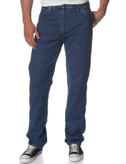 """Men's Wrangler Gold Buckle Relaxed Fit Jeans 34"""" Inseam, STO"""