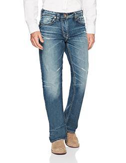 Silver Jeans Men's Gordie Straight Leg Medium Wash Jean, Vin
