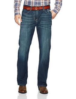 Cinch Men's Grant Relaxed Fit Jean, Medium Stonewash, 28W x