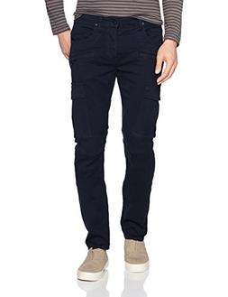 Hudson Jeans Men's Greyson Slim Fit Cargo Biker Pant, Ink, 2